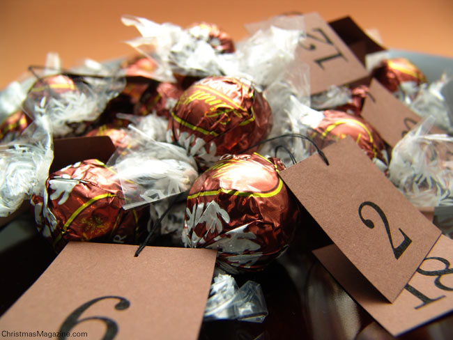 Advent calendar, chocolates