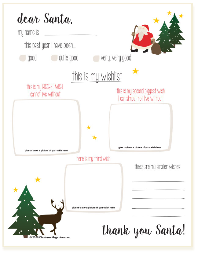 dear Santa, wish list