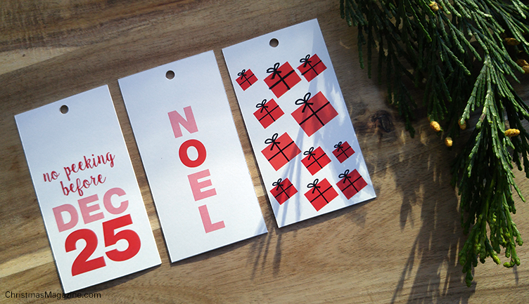 coloured gift tags for printing