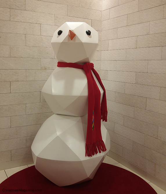 snowman at Nordstrom