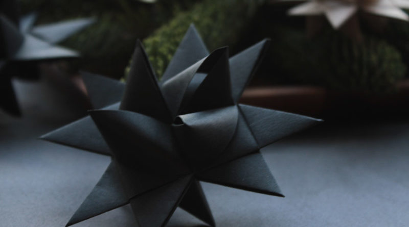 black German Christmas star made of paper