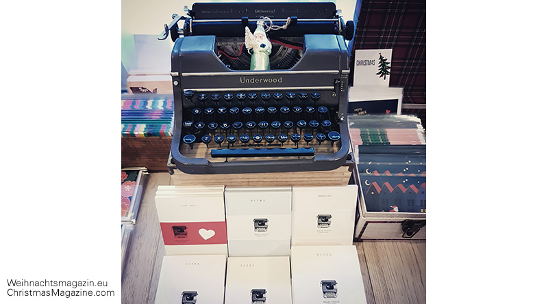 ChristmasMarket, typewriter, notepads, calla DESIGN
