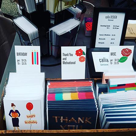 Christmas market, calla DESIGN, Christmas cards, stationery