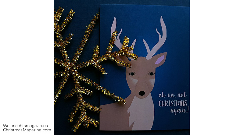 Christmas card, illustrations, calla DESIGN, tinsel star, Christmas market