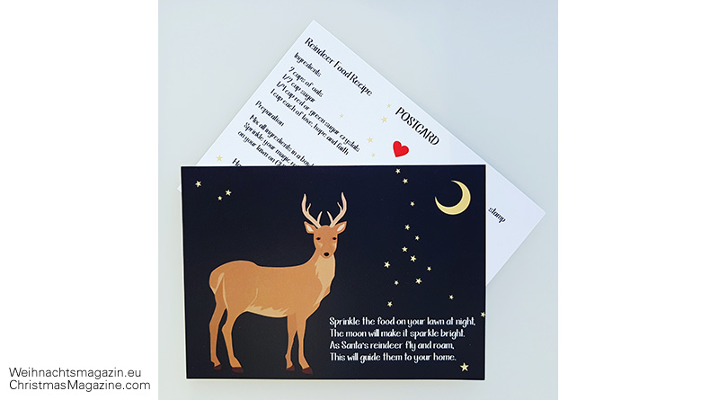 reindeer food recipe, Calla Design, postcard