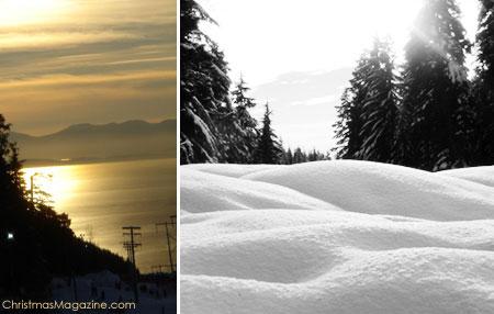 snowshoeing on Cypress, British Columbia