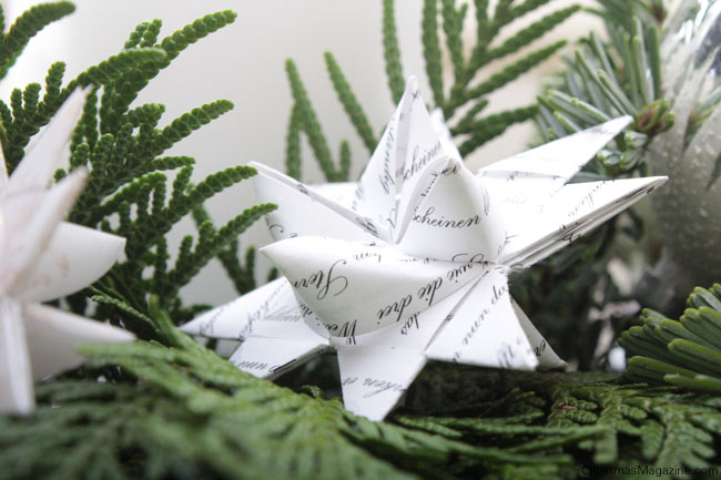 German Christmas star, paper