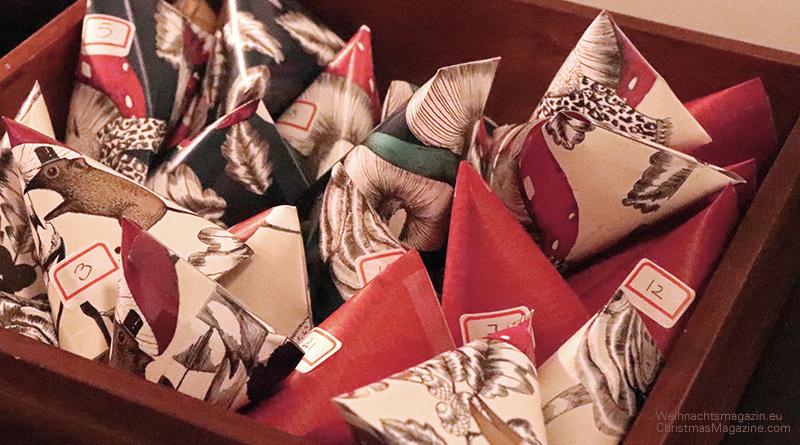 Advent calendar, diy, paper pouches