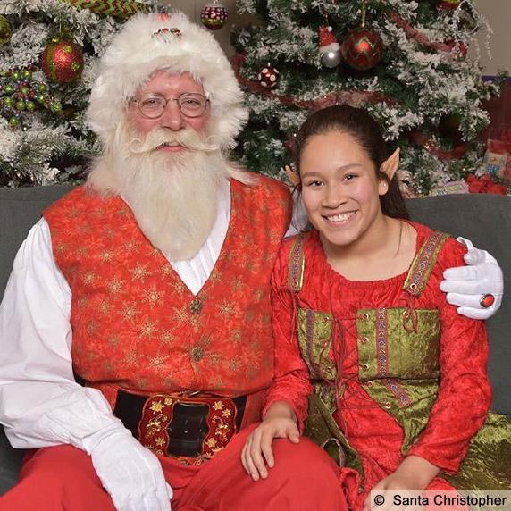 Santa Christopher, Boise, Idaho with Elf