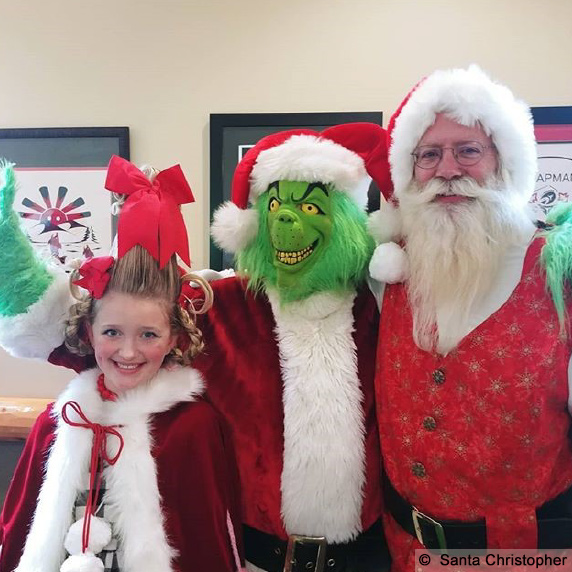 Santa Christopher with Grinch