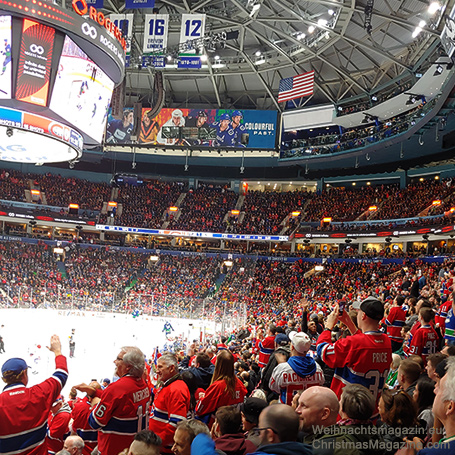 Montreal Canadians vs Vancouver Canucks, hockey game