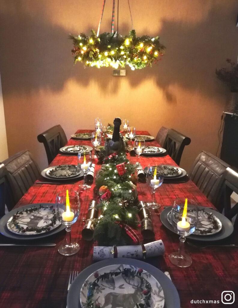 Christmas table, Christmas dinner, Christmas decorations